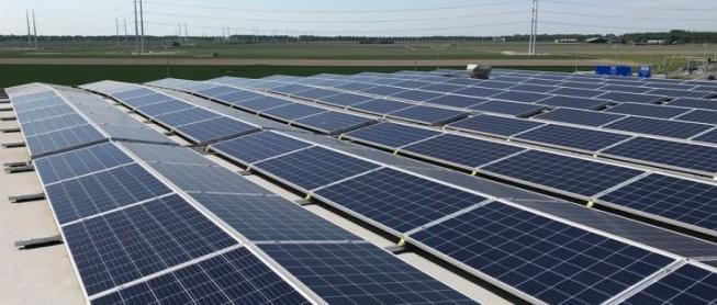 Bedrijven met zonnepanelen op het dak volgen elkaar snel op