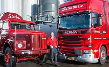 Oud-eigenaar G. Snel en eigenaar Stubbe Transport, Rinus Snel, overleden