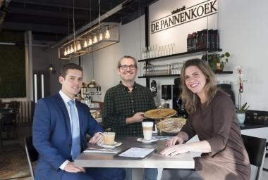Rabobank Amstel en Vecht gaf ondernemer achter Stadscafé De Pannenkoek een goed gevoel