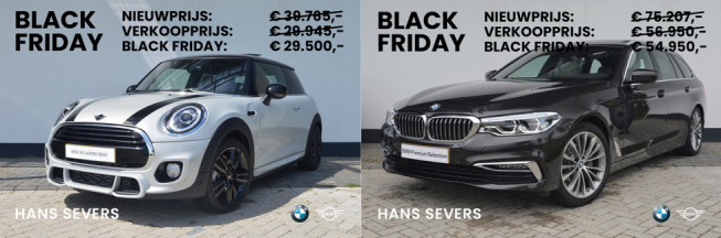 Het is Black Friday bij Hans Severs!