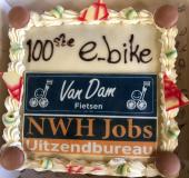 100ste e-bike voor Uitzendbureau NWH Jobs