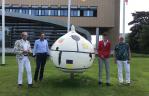 Reuzenbol bij CNB in Lisse onthuld