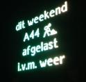 Weekendafsluiting A44 afgelast