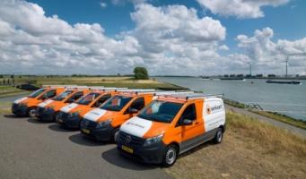Grote order van 48 Mercedes-Benz bestelwagens voor Verkaart Groep