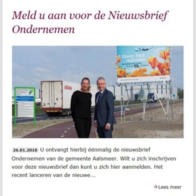 Gemeente Aalsmeer introduceert Nieuwsbrief voor Ondernemers