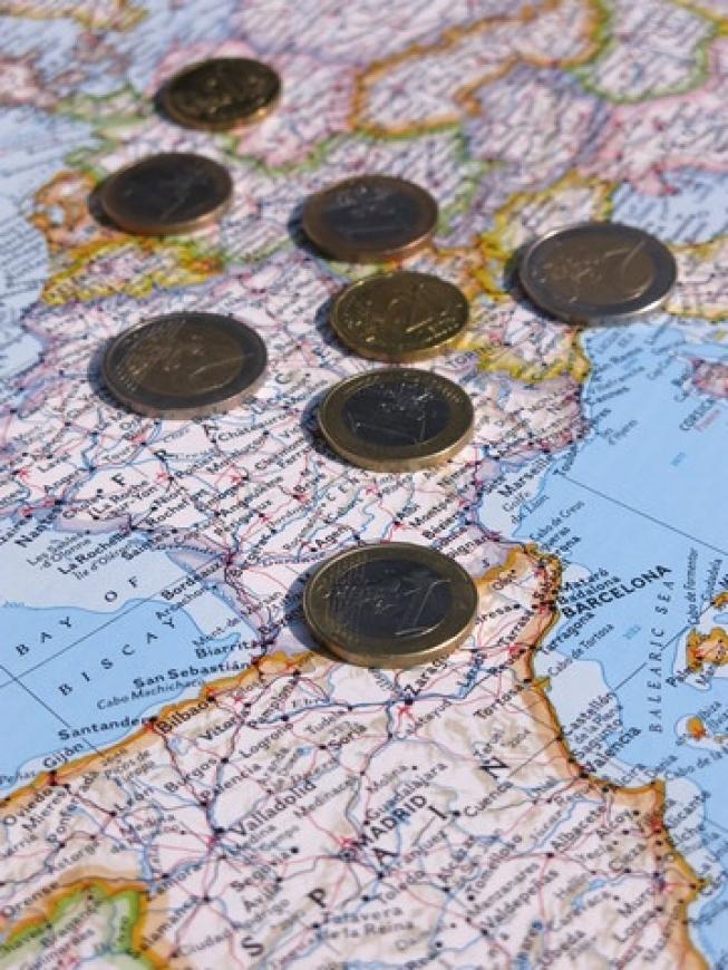 Inflatie eurozone daalt licht