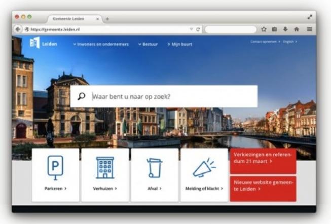 Nieuwe website gemeente Leiden