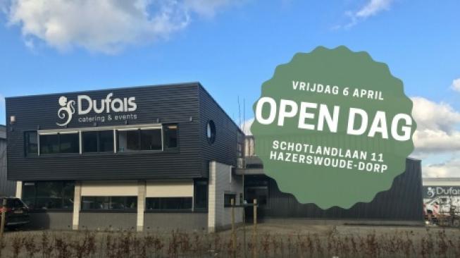 Open dag Dufais catering & events: vrijdag 6 april 2018