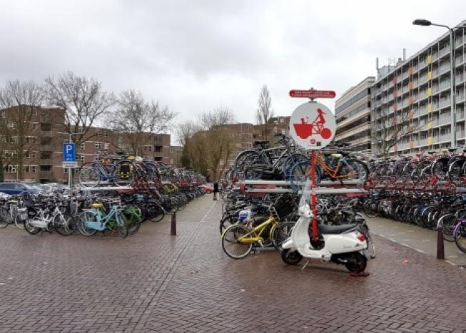 Uitbreiding Fiets Fout = Fiets Weg aan stadszijde station Leiden Centraal