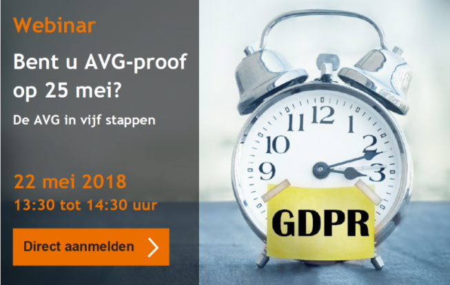 Webinar Wille Donker: De AVG implementeren in vijf stappen